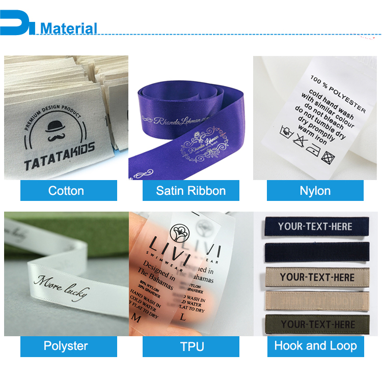 Clear TPU wash care labels